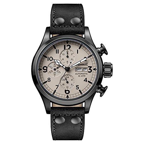 Ingersoll Herren Chronograph Automatik Uhr mit Leder Armband I02202