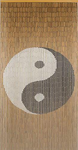 "Beaded String Natural Bamboo Wood Beaded Curtain-90 Strands-80 High-Boho Door Beads-Bohemian Doorway Curtain-35.5"" Wx80 H-Tao"