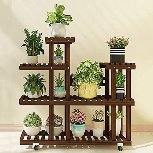 Muebles para el hogar Estante de madera maciza para plantas