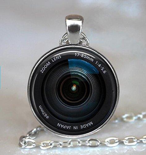 Kamera-Objektiv-Halskette, Kamera-Objektiv-Anhänger, Kamera-Halskette, Fotografen Geschenk, Schlüsselanhänger
