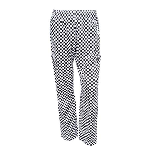 Chef Code Chef Pants, Checkered White, Large
