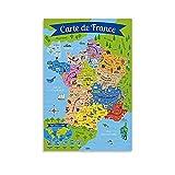 kunle Poster Frankreich für Kinder, dekoratives Gemälde,