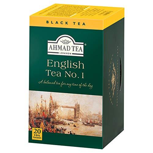 Ahmad Tea – English Tea No 1 | Schwarztee-Mischung mit Bergamotte | 6x20 Teebeutel á 2 g | Teebeutel mit Band