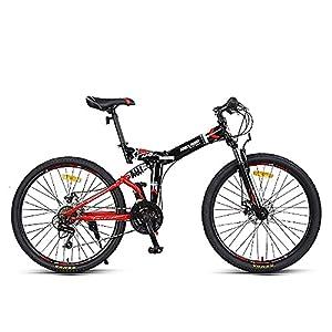 51Ng7sQo16L. SS300 DODOBD Mountain Bike da 24 Pollici Pieghevole, Biciclette da Fuoristrada Pieghevoli a velocità Variabile a 24 velocità, Bicicletta Portatile Durevole Bici da Strada Bici da Città