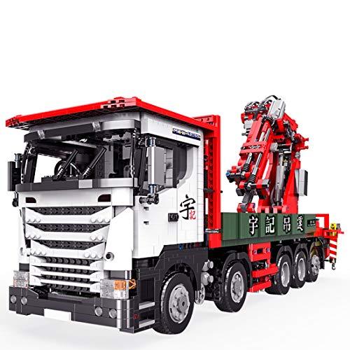 DOSGO Technik Kran LKW Bausteine mit Motoren, 3925 Teile 2.4G APP Fernbedienung Kranwagen Konstruktionsspielzeug Kompatibel mit Lego