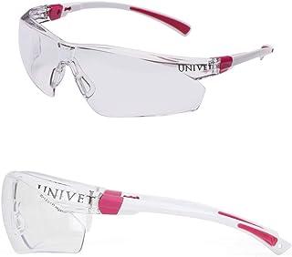 Óculos Esportivo Univet Transparente Noturno Rosa Feminino