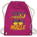 Shirtracer Urlaub - Ich brauche keine Therapie ich muss nur nach Malle - Unisize - Fuchsia - tasche...