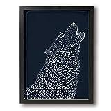 Yanghl 狼 オオカミ アートパネル フォトフレーム フレーム装飾画 アートポスター アートボード アートポスター インテリア 装飾画 壁掛け おしゃれ 部屋飾り キャンバス Arts モダン 木枠セット