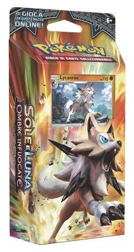 Lycanroc MAZZO 60 Carte Italiano Pokemon Roccia Ferma Sole Luna Ombre Infuocate