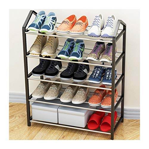 Free Standing Shoe Rack Space Saving Shoe Tower Cabinet Storage Organizer Black Holds 8-20 Pair of Shoes (Color : Black, Size : 65cm)