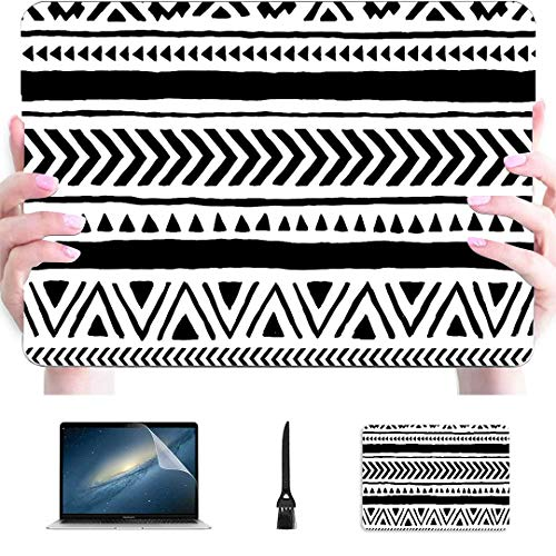 Fundas para Mac Book Pro sin Costuras étnicas Tribales Hechas a Mano Horizontal de plástico rígido Compatible con Mac Air 13'Pro 13' / 16'Mac Laptop Cover Funda Protectora para Macbook 2016-2020
