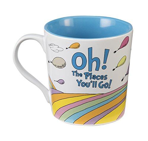 Dr. Seuss Oh the Places 12 Oz. Ceramic Mug