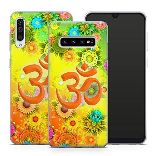 Handyhülle Om für Samsung Silikon MMM Berlin Hülle Yin Goa Mandala Buddha Peace Yoga PSY, Hüllendesign:Design 3   Silikon Klar, Kompatibel mit Handy:Samsung Galaxy A20e