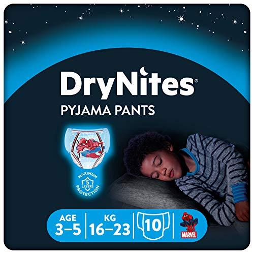 HUGGIES DryNites hochabsorbierende Nachtwindeln bei Bettnässen, für Jungen 3-5 Jahre, 3 x 10 Stück