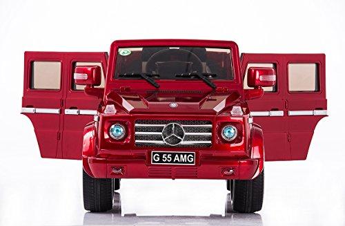 Mercedes-Benz G-class AMG, Original licenza, 2x Motore, Ruote EVA, Rosso Dipinto, 12 V della Batteria, con Telecomando, con Chiave, Macchina bambino, Macchine e Moto elettriche, Veicoli Elettrici, Veicolo Elettrico