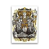 Xuetaozz Dama de Elche Triple diosa Vintage Poster HD impresión lienzo pintura bruja brujería decoración del hogar-50x75 cm sin marco