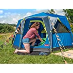 Coleman Tent Octago, 3 Man Tent Ideal for Camping in the Garden, Dome Tent, Waterproof 3 Person Camping Tent with Sewn…