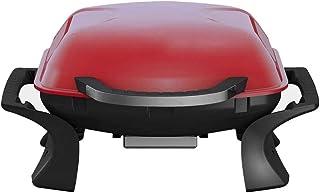 Qlima Parrilla Portátil a Carbón 37x53 cm Roja Metal Barbacoa Compacta BBQ