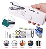 Aoweika Mini Handheld Nähmaschine 15 pcs Tragbar Elektrische Handnähmaschine Schneller