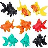 Sumind 20 Pieces Artificial Aquarium Fishes Plastic Fish Realistic Artificial Moving Floating Colorful Goldfish Fake Fish Decoration Ornament for Aquarium Fish Tank