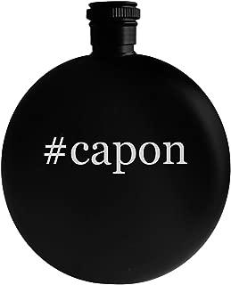 #capon - 5oz Hashtag Round Alcohol Drinking Flask, Black