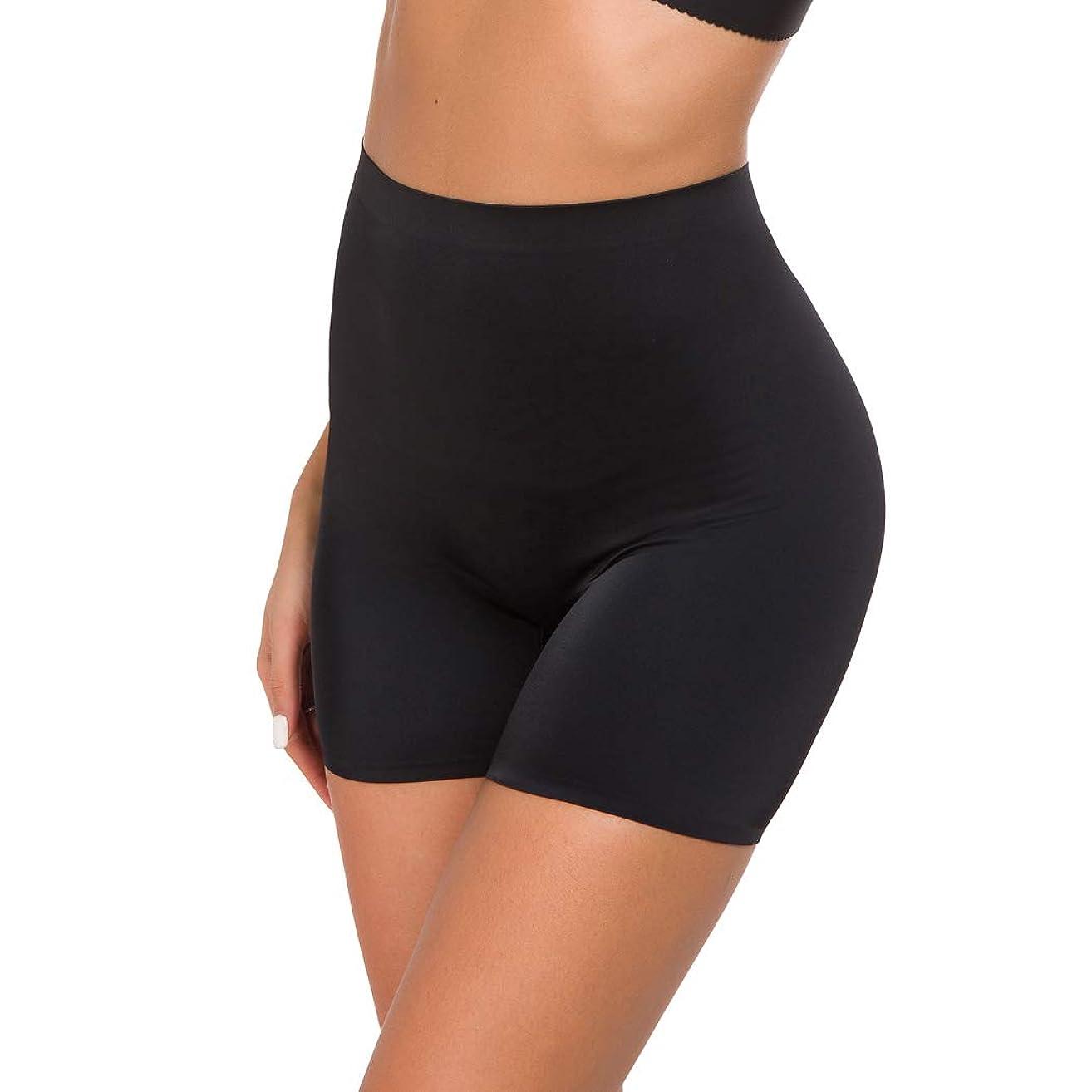 Women's Shapewear Boyshort Hi-Waist Seamless Tummy Control Shaper Panties Mid-Thigh Short