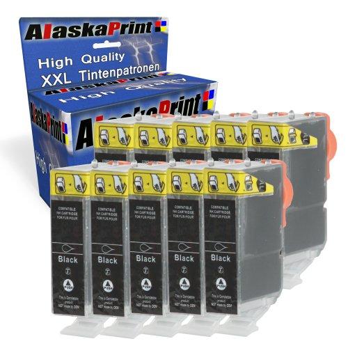 10x Druckerpatronen Komp. für Canon PGI-520 XL PGI-520XL PGI520 XL PGI520XL 520 pgbk XL Schwarz Black für Pixma IP4700 MP540 MP550 MP640 IP3600