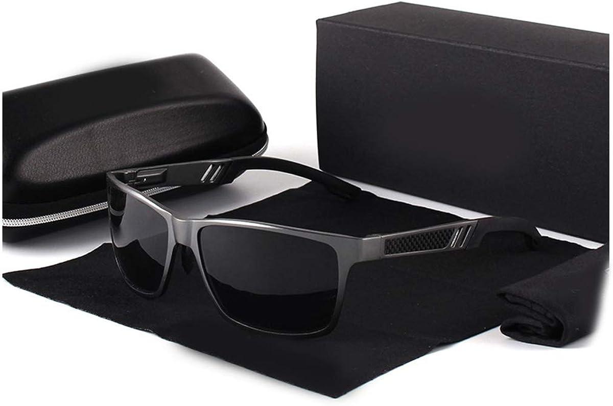 RTGreat NEW Aluminum Square Men/Women Polarized Coating Mirror Sun Glasseseyewear Sunglasses Des lunettes de soleil For Men Gun Gray