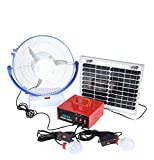 Rural Gallery Solar Home Lightening System with 12w Panel and 7' 12w high Speed Table Fan