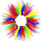 Giocoleria Danza Sciarpe Movimento Magico Sciarpe Veli Piccoli Fazzoletti per Strumenti Sensoriali, Bambini, Festa, Spettacolo di Magia, Scuola, Matrimonio, Vacanza, 26 Pezzi (Colore Casuale)