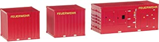Herpa 076807 Accessories 1 x Electricity Generator and 2 x 10 ft. fire Container