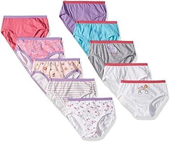 10-Pack Hanes Girls Tagless Brief Underwear
