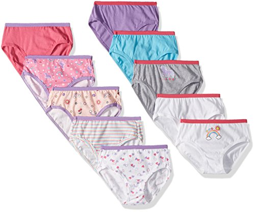 Hanes Girls' Brief Multipack, Assorted 10 Pack, 4
