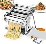 Todeco Machine pour Faire des Pâtes, Machine à Pâtes, Spaghettis, tagliatelles, lasagnes, 6 réglages d'épaisseur de 0,5 à 3 mm