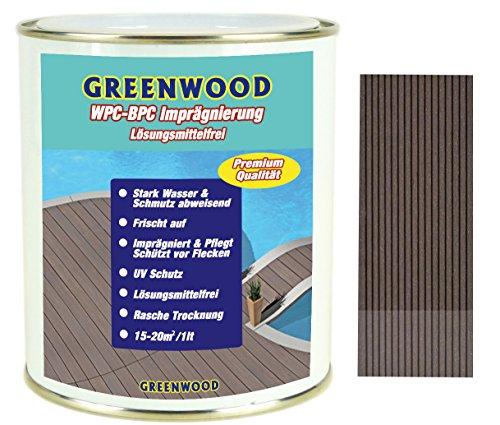 Greenwood - Premium WPC Pflege & Schutz Imprägnierung Dunkelbraun #2L 750ml Lösungsmittelfrei - Keine Ausdünstungen - Haustierfreundlich - Schadstofffrei