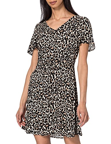 Vero Moda VMSIMPLY Easy SS Short Dress WVN GA Vestido, Avena, L para Mujer