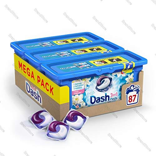 Dash 3-in-1-Waschmittel mit Lotusblumen/Lilien, Kapseln, 29 Waschgänge, 3 Stück