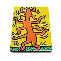 ルーズリーフノート スマートノート メモ帳 日記帳 ルーズリーフバインダー ノート ノートブック ルーズリーフ式 キース ヘリング (10) システム手帳 高級PUレザー 文房具 ビジネス用 勉強用 おしゃれ プレゼント