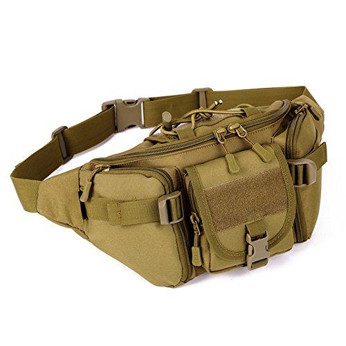 DCCN Tactical Hüfttasche Bauchtasche Militär Gürteltasche mit 5 Fächer inkl....