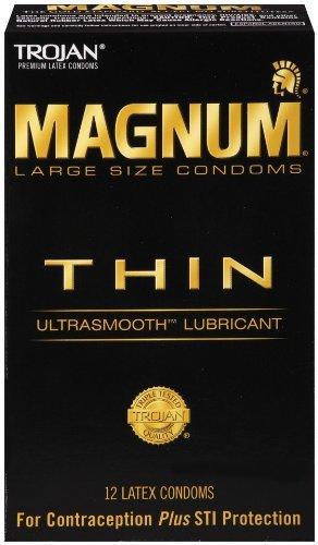Trojan Magnum Thin Latex Condoms 12ct