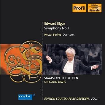 Elgar, E.: Symphony No. 1 / Berlioz, H.: Overtures (C. Davis) (Staatskapelle Dresden Edition, Vol. 1)
