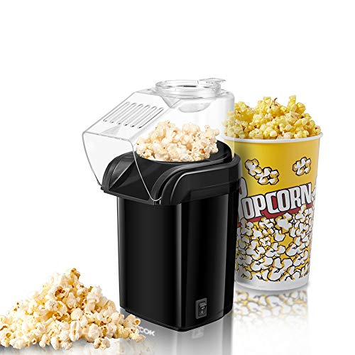 Best Review Of ZRXRY Popcorn Maker, Fast Hot Air Popcorn Popper with Measuring Cup and Removable Lid...