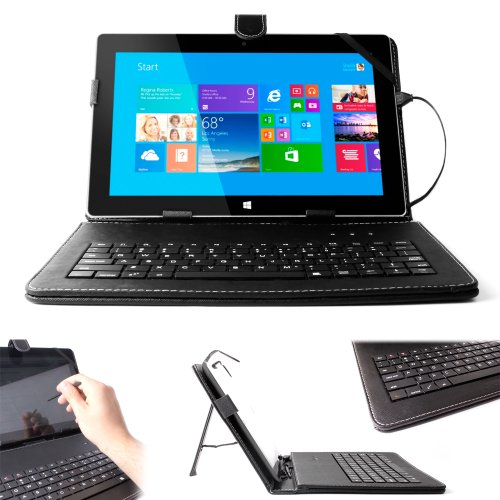 DURAGADGET Custodia Tastiera Nera per Tablet Microsoft Surface RT 2   RT PRO 2   PRO + Pennino Capacitivo - Alta qualità - 2 Anni di Garanzia