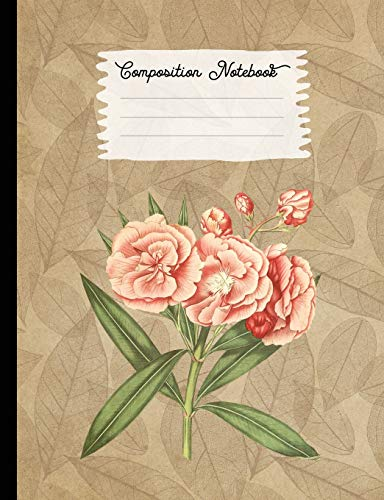Composition Notebook: College Ruled Blank Lined Journals for School - Oleander