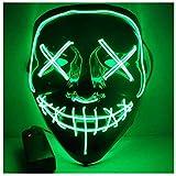 Alxcio Halloween la maschere Spaventoso EL Wire Cosplay Maschera, Led Light Up Maschera pe...
