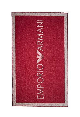 Emporio Armani Swimwear Towel Logo Addicted, Rosso, Taglia Unica Donna