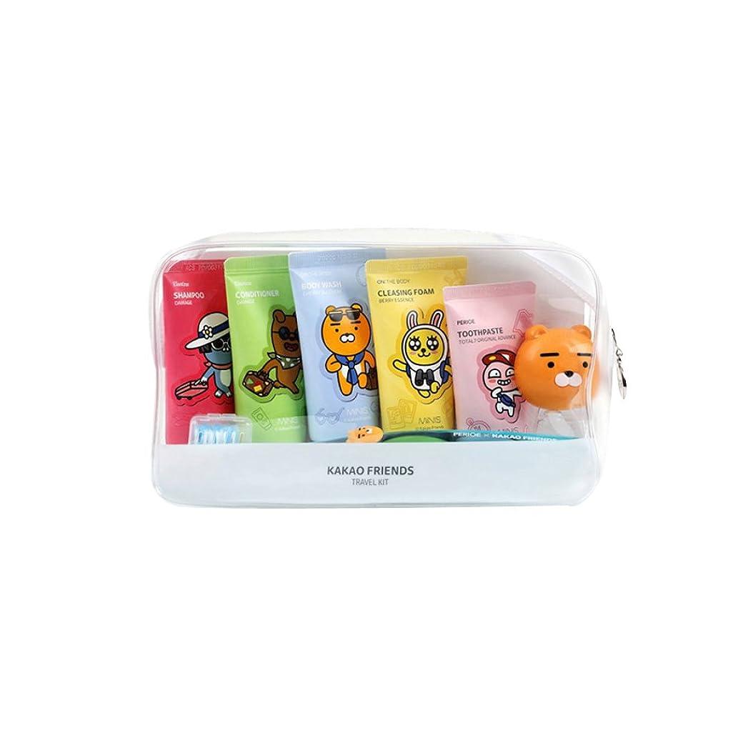 バイオリン部屋を掃除する流用するKAKAO Friends Convenience Travel Kit 7 Piece Shampoo,Conditioner,Body Wash,Cleansing Foam,Tooth Paste,Tooth Brush, Tooth Brush Cap Tube Type KAKAOフレンズコンビニエンストラベルキット7点シャンプー、コンディショナー、ボディウォッシュ、クレンジングフォーム、歯ブラシ、歯ブラシ、歯ブラシキャップチューブタイプ [並行輸入品]