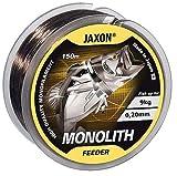 Jaxon Angelschnur Monolith Feeder 150m / 0,16-0,35mm Spule Monofile Feederschnur (0,25mm / 13kg)