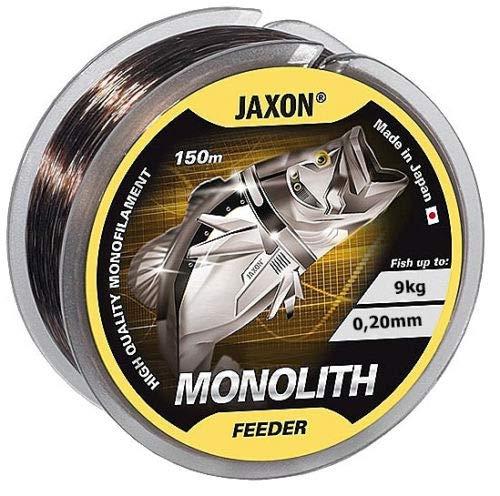 Jaxon Monolith Feeder, filo da pesca, 150 m/ 0,16 – 0,35 mm, bobina monofilo., marrone, 0,18mm / 7kg