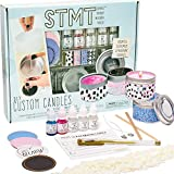STMT DIY Custom, Create 2 Fragrant Candles, Candle Tins, Recipe Card, Sticker Labels, Wax Chips, Candle Wicks, Fragrance Droppers & Instruction Sheet Included, Assorted Colors